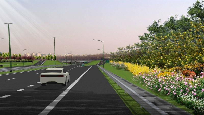 广三高速公路生态景观林带