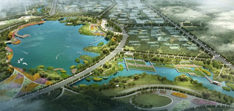 汤坑水两岸公共绿带景观工程设计